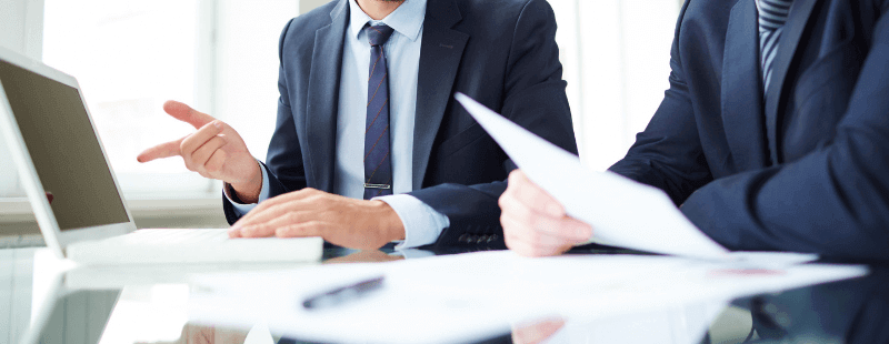 Accountants filing taxes
