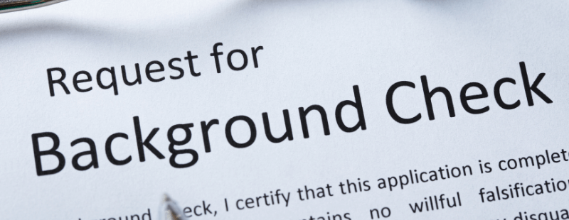 DUI on a background check